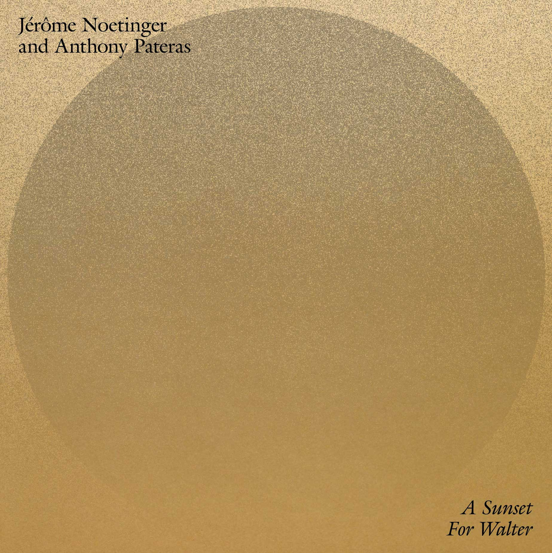 Jérôme Noetinger and Anthony Pateras - A Sunset For Walter LP